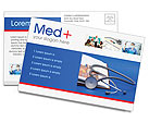 Stethoscope & Medicine Book Postcard Template