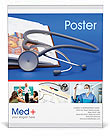 Stethoscope & Medicine Book Poster Template