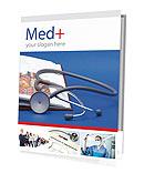 Estetoscópio & Medicine Livro Folhetos de apresentação