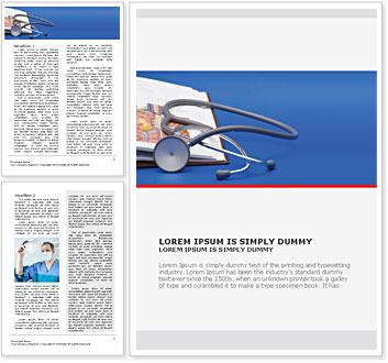 stethoscope medicine book word template design id 0000000922
