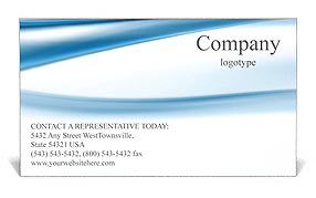 Blue Abstract Waves Business Card Template