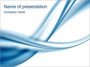 Blue Abstract Waves PowerPoint Templates
