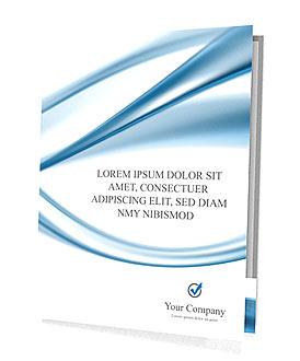 Blue Abstract Waves Presentation Folder