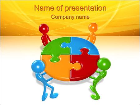 成功したチーム PowerPointプレゼンテーションのテンプレート
