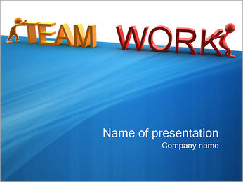 Team Work Sjablonen PowerPoint presentatie