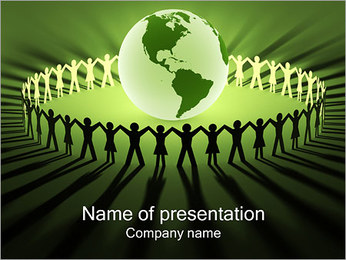 Mensen rond de Wereld Sjablonen PowerPoint presentatie