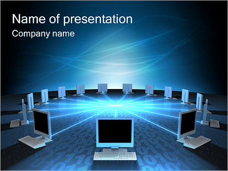 computer network powerpoint template & backgrounds id 0000000931, Modern powerpoint