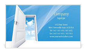 Opened Door Business Card Templates