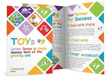 Toys Brochure Template  Design Id   SmiletemplatesCom