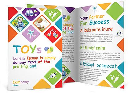 Toys Brochure Template & Design Id 0000000935 - Smiletemplates.Com