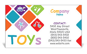 Toys Business Card Templates