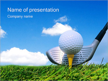 Golf Ball on Tee I pattern delle presentazioni del PowerPoint