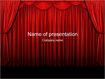 Curtain PowerPoint Template