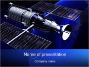 Satellite Orbiting Earth PowerPoint Templates