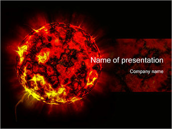 Burning Red Planet PowerPoint Template