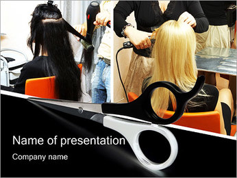 Hairdressing Saloon PowerPoint Template