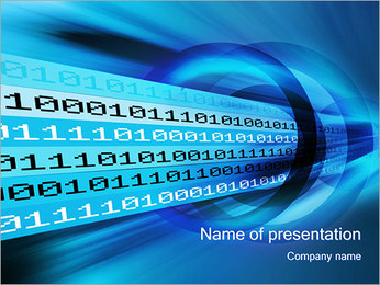 Digital Tunnel PowerPoint Template