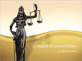 Justitia Statue PowerPoint Template
