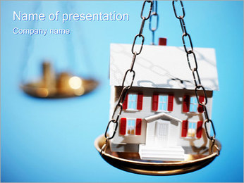 House on Weights PowerPoint Template