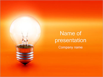 Lighting Lamp PowerPoint Template