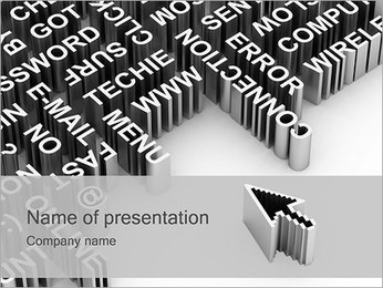 Computer Concept PowerPoint Template - Slide 1