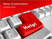 Help Button PowerPoint Template