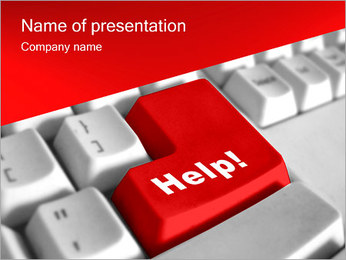 Help Button PowerPoint Template - Slide 1