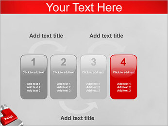 Help Button PowerPoint Template - Slide 11
