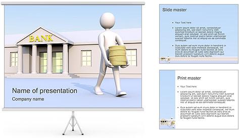 Tirar dinheiro do Banco Modelos de apresentações PowerPoint