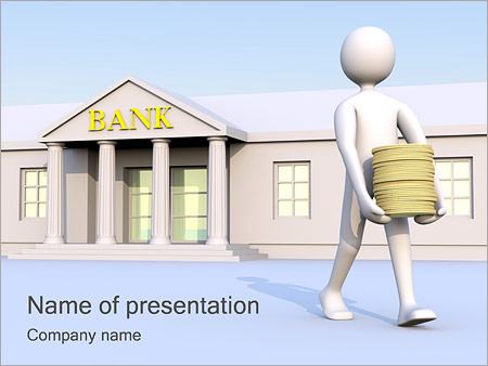 take money from bank powerpoint template & backgrounds id, Modern powerpoint