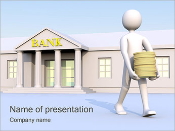 Take Money from Bank PowerPoint Template