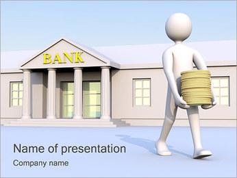 Tirar dinheiro do Banco Modelos de apresentações PowerPoint - Slide 1