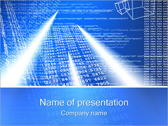 Digits and Hypertext PowerPoint Template