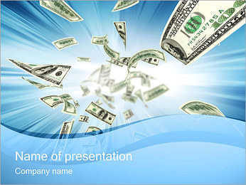 Falling Money PowerPoint Template