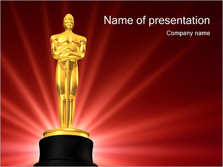 film award powerpoint template & backgrounds id 0000000975, Modern powerpoint
