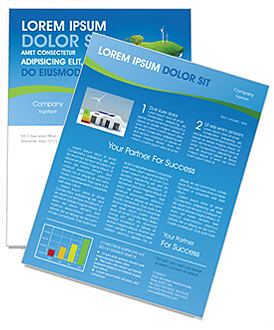 Globe with Wind Turbines Newsletter Template