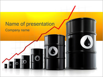 Oil Rate PowerPoint Template