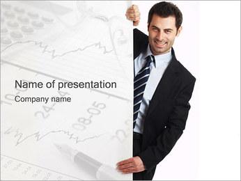 Uomo d'affari & Billboard I pattern delle presentazioni del PowerPoint