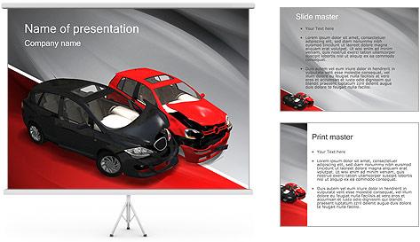Crashed Cars Modèles des présentations  PowerPoint