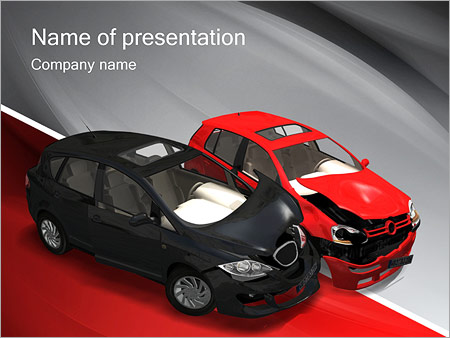 Crashed Cars Powerpoint Template Backgrounds Id 0000000982