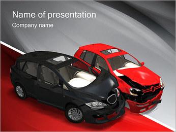 Crashed Cars Modèles des présentations  PowerPoint - Diapositives 1
