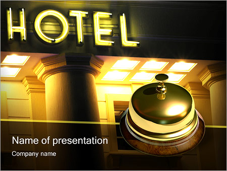 hotel service powerpoint template & backgrounds id 0000000984, Modern powerpoint