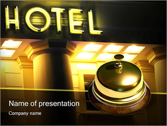 Hotel Service PowerPoint Template - Slide 1