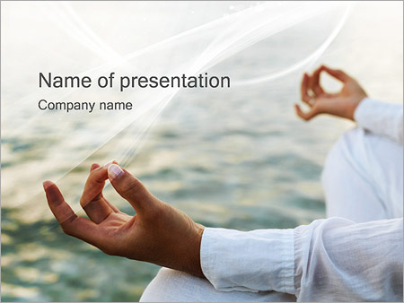 yoga powerpoint template & backgrounds id 0000000985, Presentation templates