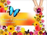 Krásné květiny PowerPoint šablony