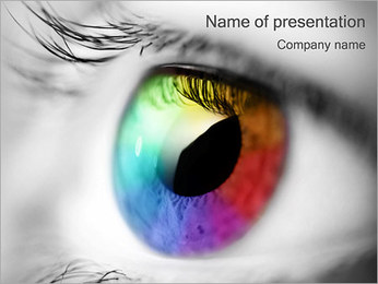 Beautiful Eye PowerPoint Template