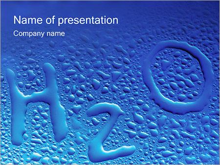 Gouttes d'eau H2O en forme Modèles des présentations  PowerPoint