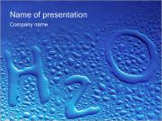 H2O Waterdrops Shaped PowerPoint-Vorlagen