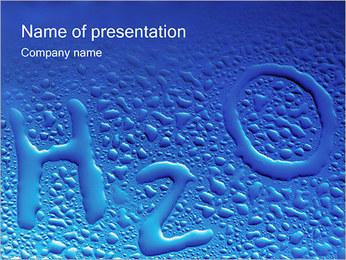 Gouttes d'eau H2O en forme Modèles des présentations  PowerPoint - Diapositives 1