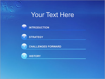 Gouttes d'eau H2O en forme Modèles des présentations  PowerPoint - Diapositives 3
